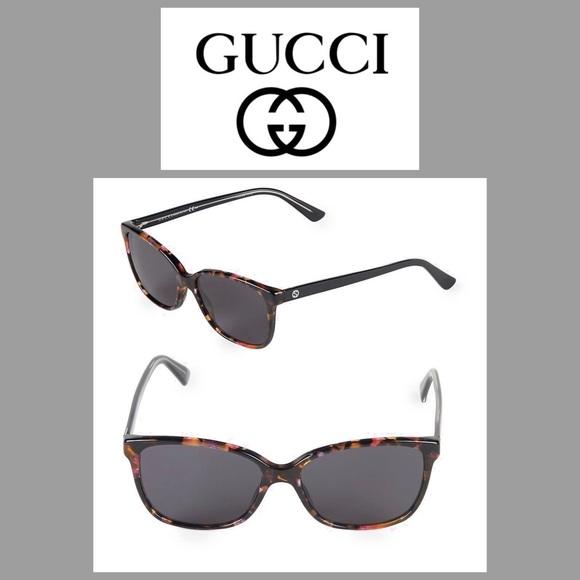c48a4ed60c3 Gucci GG 3724 Havana 50MM Square Sunglasses NEW